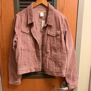 NWT pink corduroy jacket